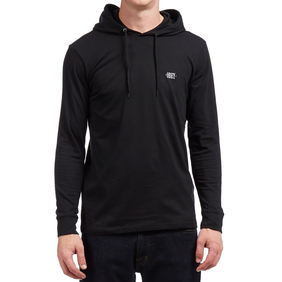 Metier Hooded Long Sleeve T-Shirt - Black