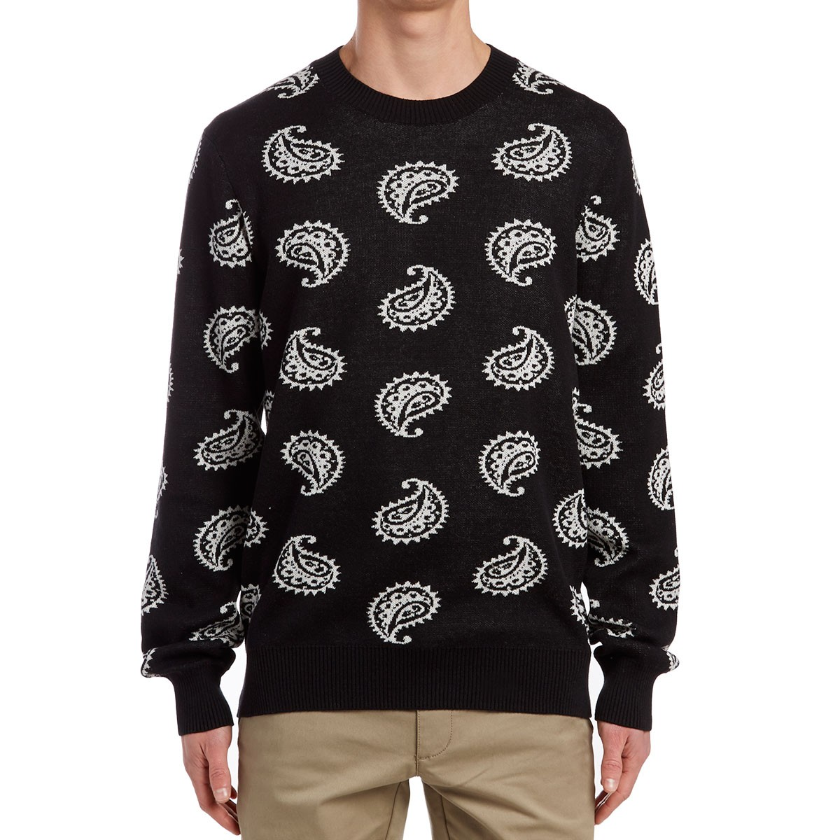 Obey Duren Sweater - Black/White