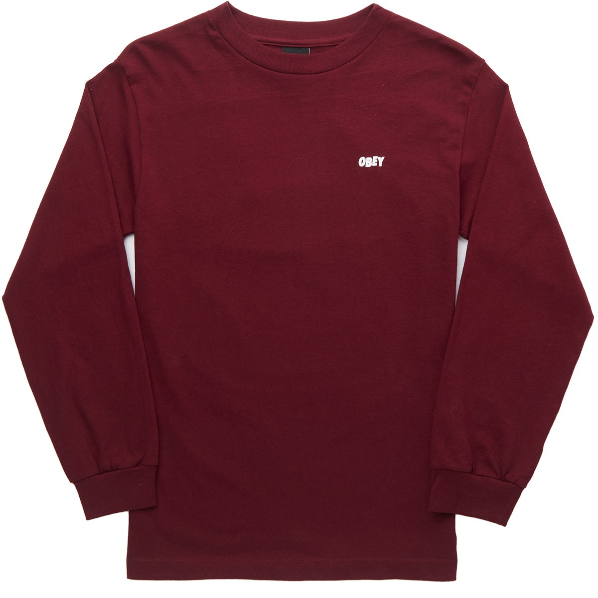 Unusual Activity Long Sleeve T-Shirt - Burgundy