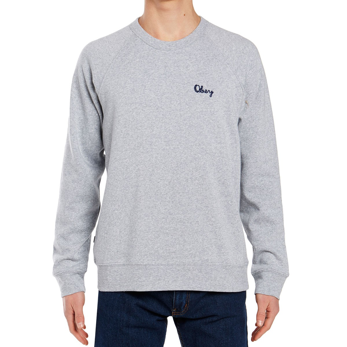 b6d223daf587 Obey Lofty Chain Stitch Crew Sweatshirt - Athletic Heather Grey