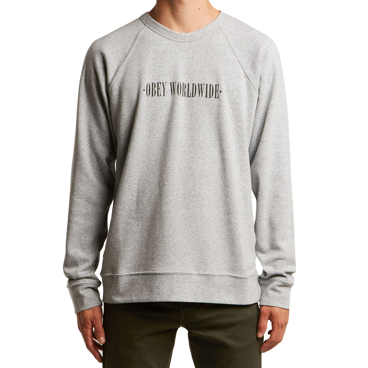 0ebb68844d3a Obey New Times Hoodie - Athletic Heather Grey