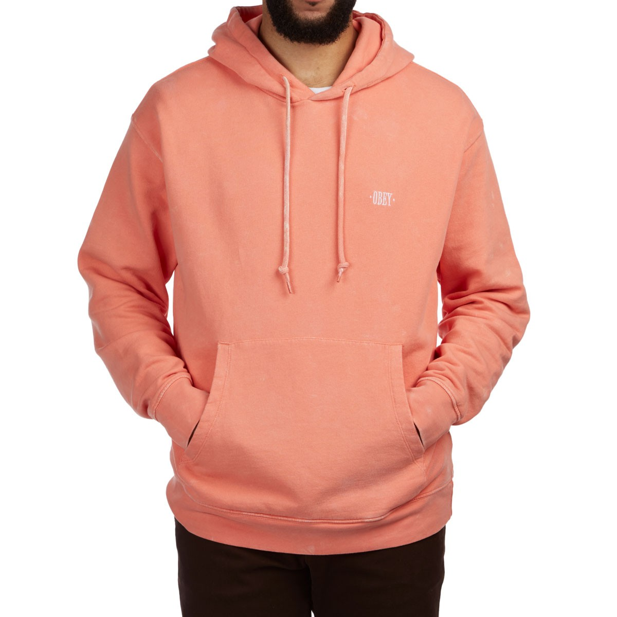 5f696526ba9b Obey Fade Pigment Hoodie - Coral