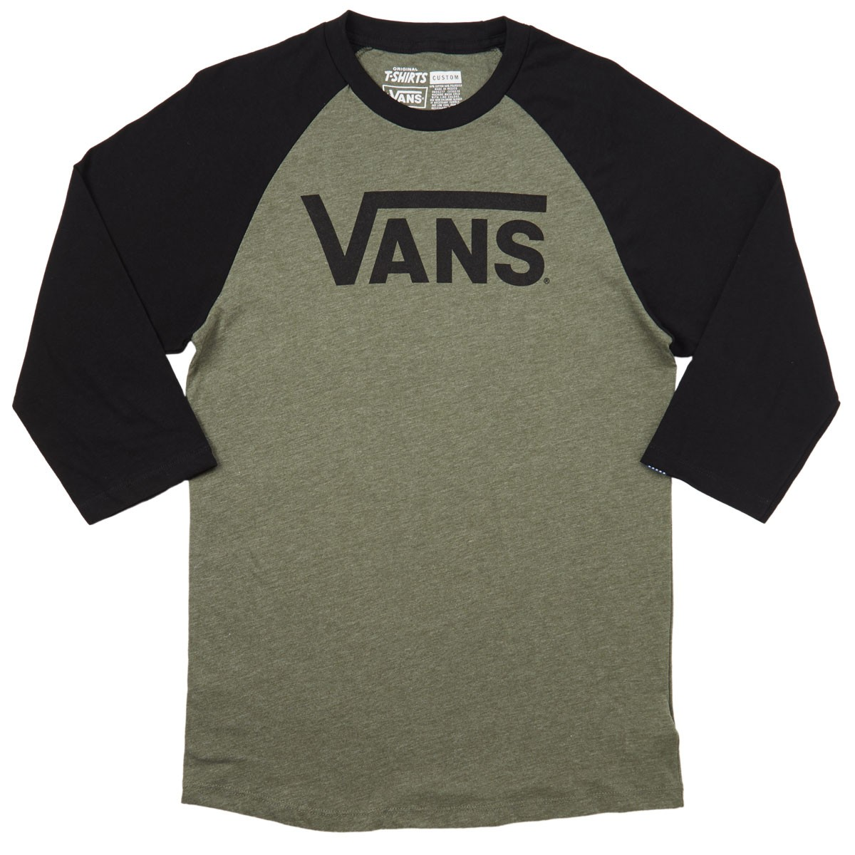 Vans Classic Raglan T-Shirt - Heather Olive Black 393f0119f