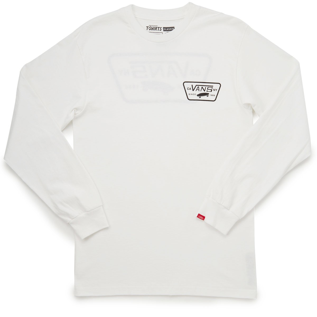 f35d56c0a6 Vans Full Patch Back Long Sleeve T-Shirt - White