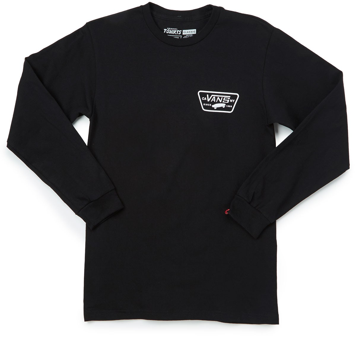 Vans full patch back long sleeve t shirt black for Full black t shirt