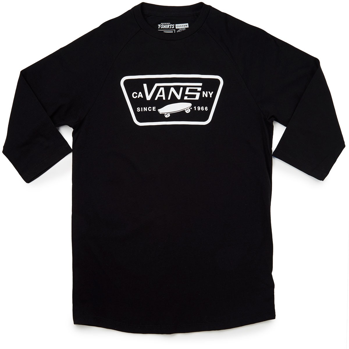 Vans full patch raglan t shirt black black for Full black t shirt