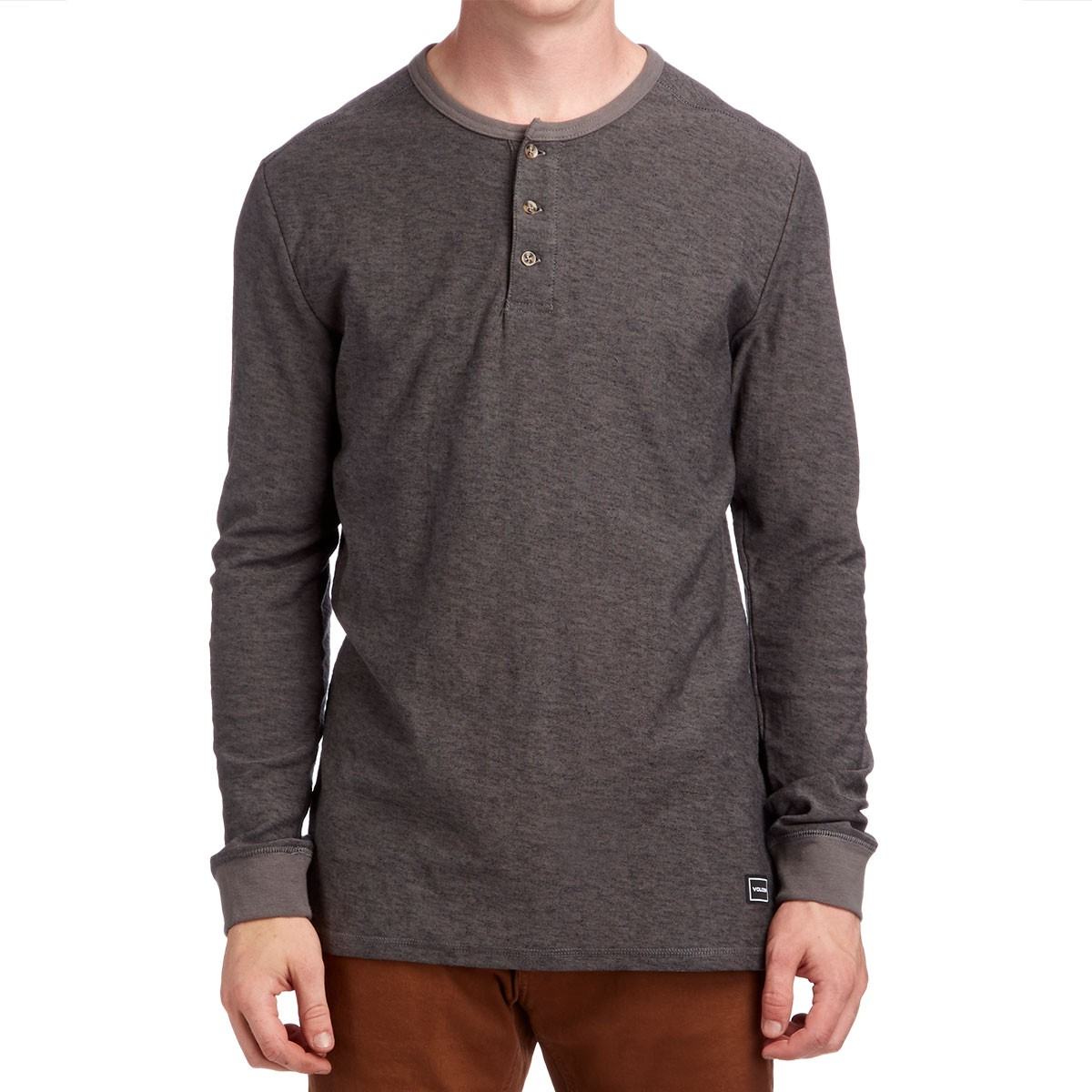 Volcom Moxee Henley Long Sleeve Shirt - Pewter