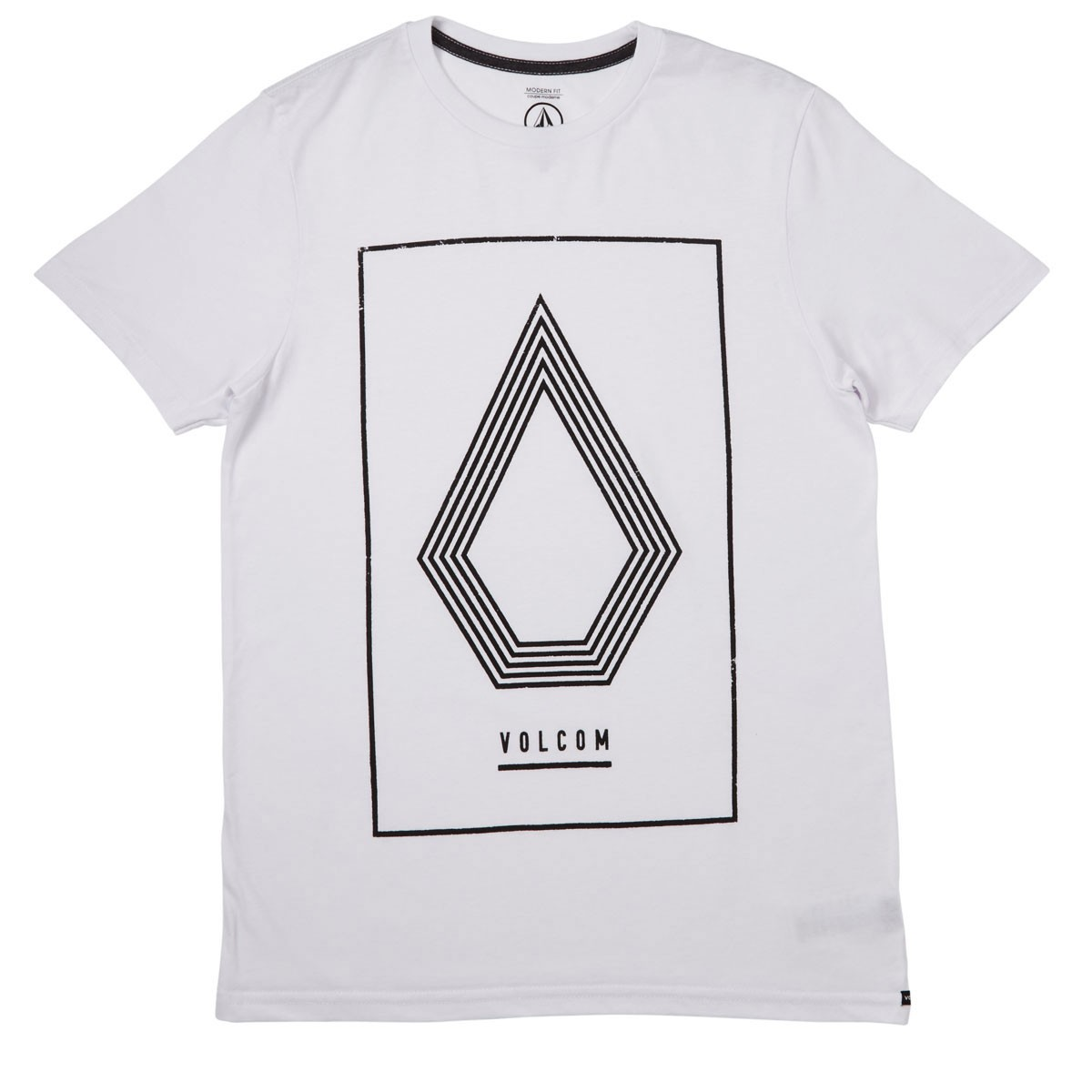 Line Drawing Shirt : Volcom line art t shirt white