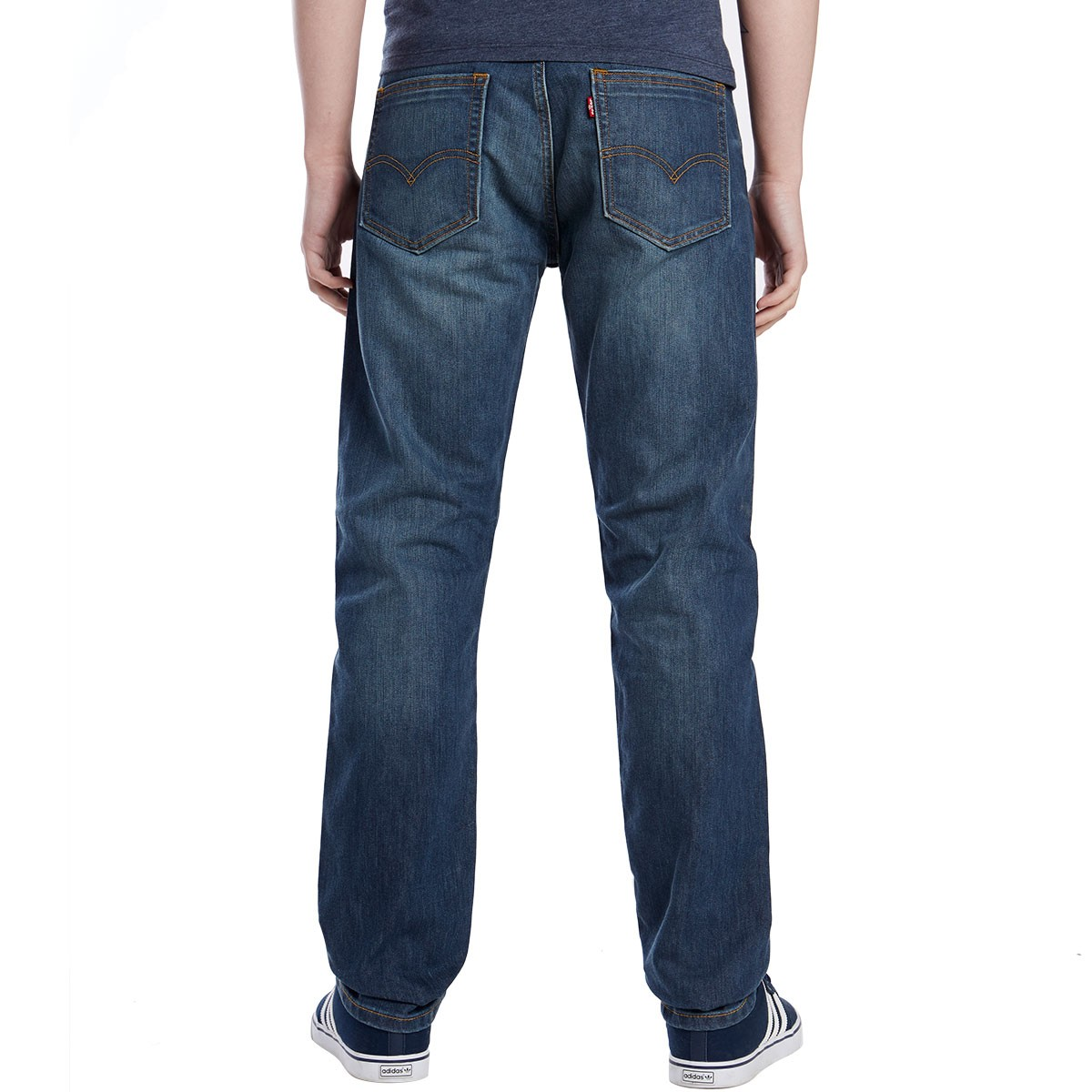 Although our jeans fit true to size, they have a slim straight body, meaning a slimmer fit through the leg and a more tapered leg opening.