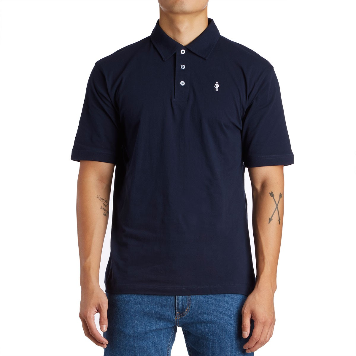 Girl Og Embroidered Polo Shirt Navy