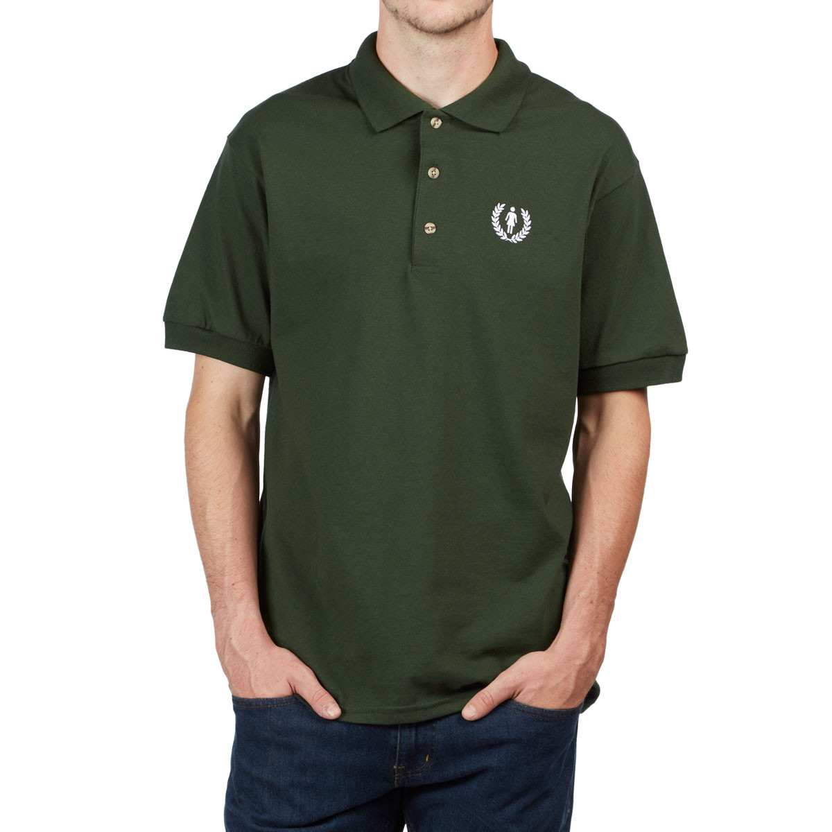 Girl Country Club Polo Shirt - Forest