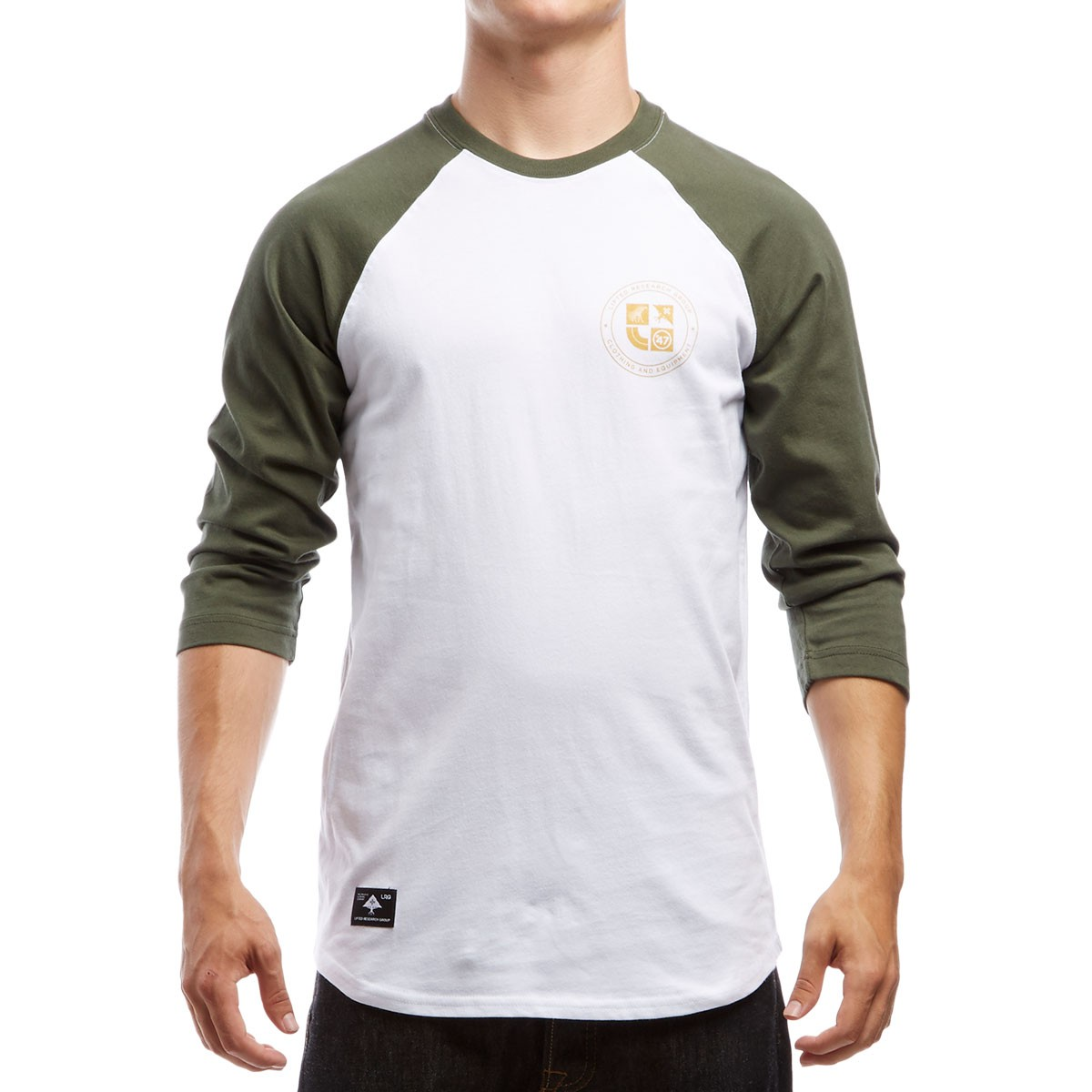 8f3b5c07cb6 LRG Clothing and Equipment 3 4 Sleeve Raglan T-Shirt - Olive Drab