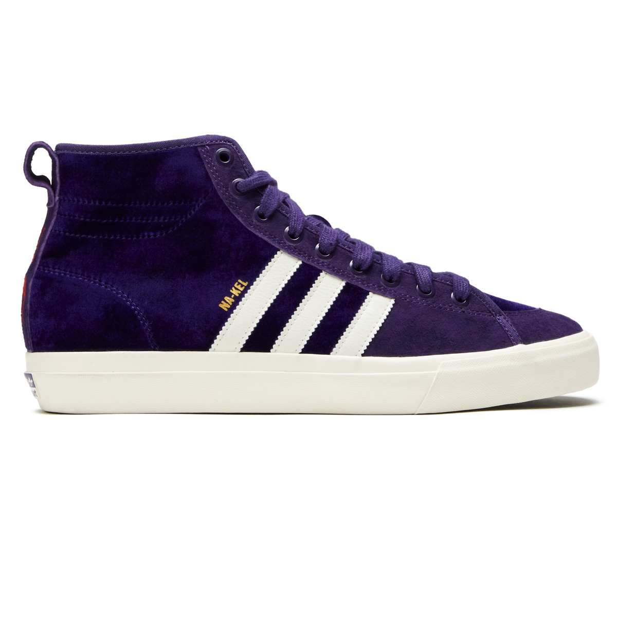 official photos 32137 8fae0 Adidas Matchcourt High RX Na-kel Shoes - Purple Cream White Gold Metallic