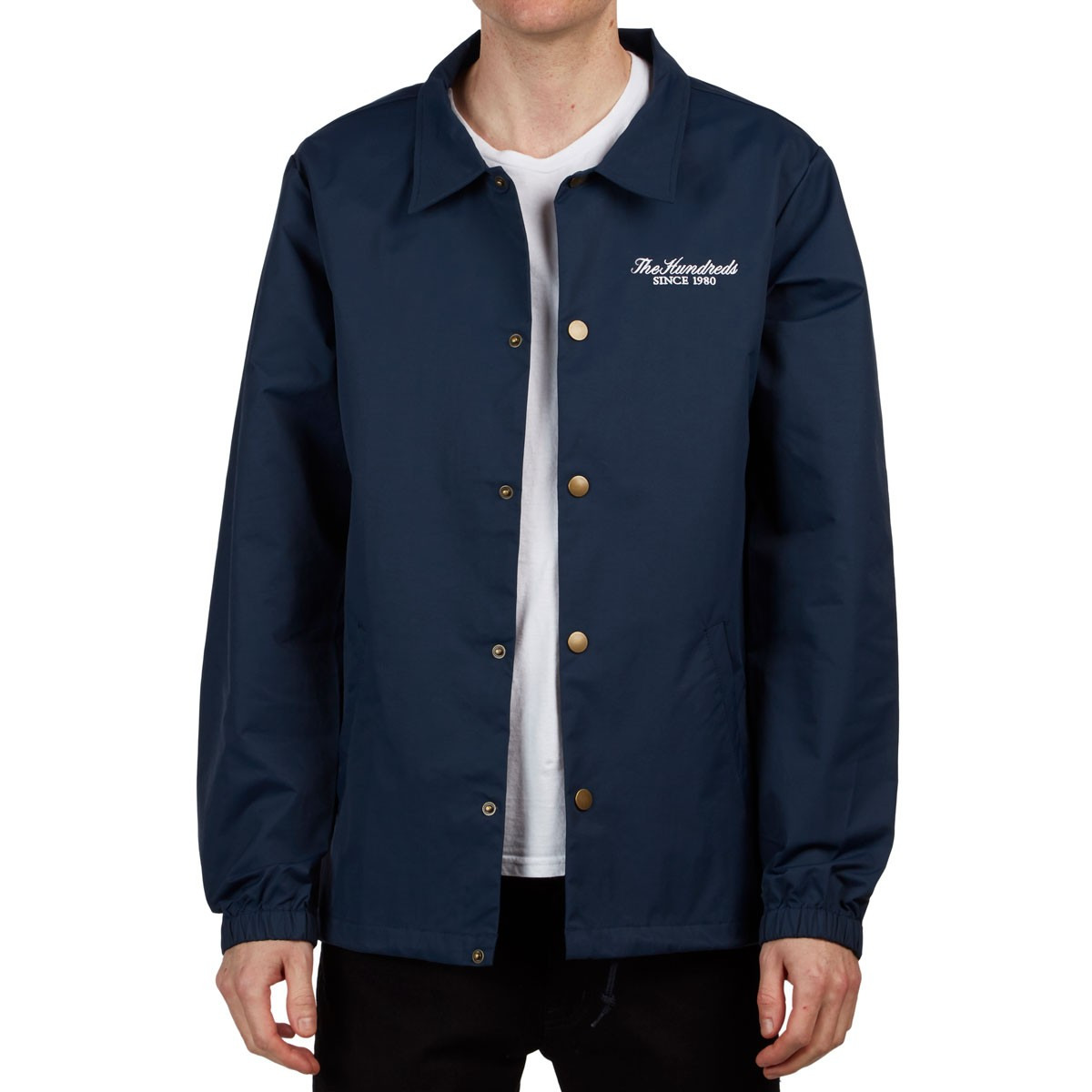 dab8b71a2b9e The Hundreds Rich Coaches Jacket - Navy