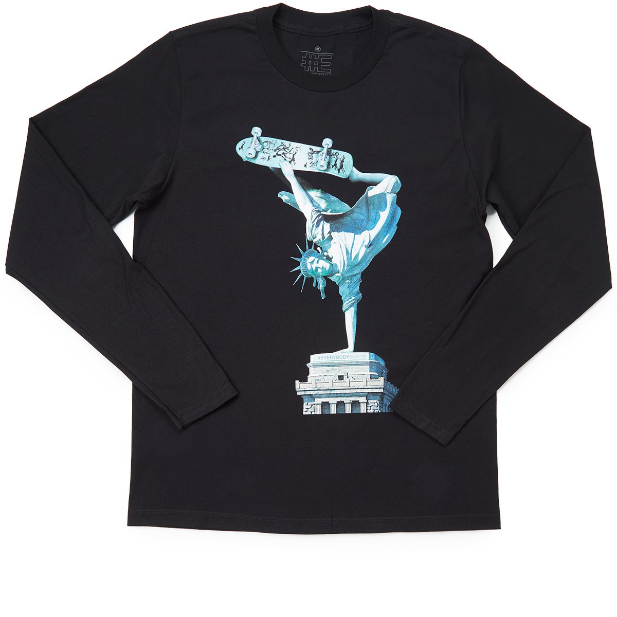 Everybody Skates Liberty Long Sleeve Shirt - Black