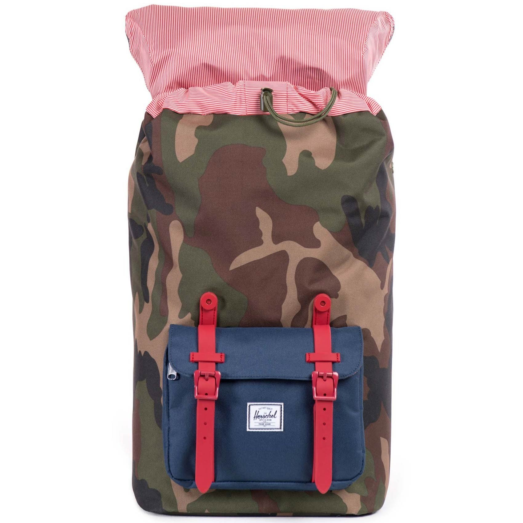 dbc5936f46 Herschel Little America Backpack - Woodland Camo Navy Red