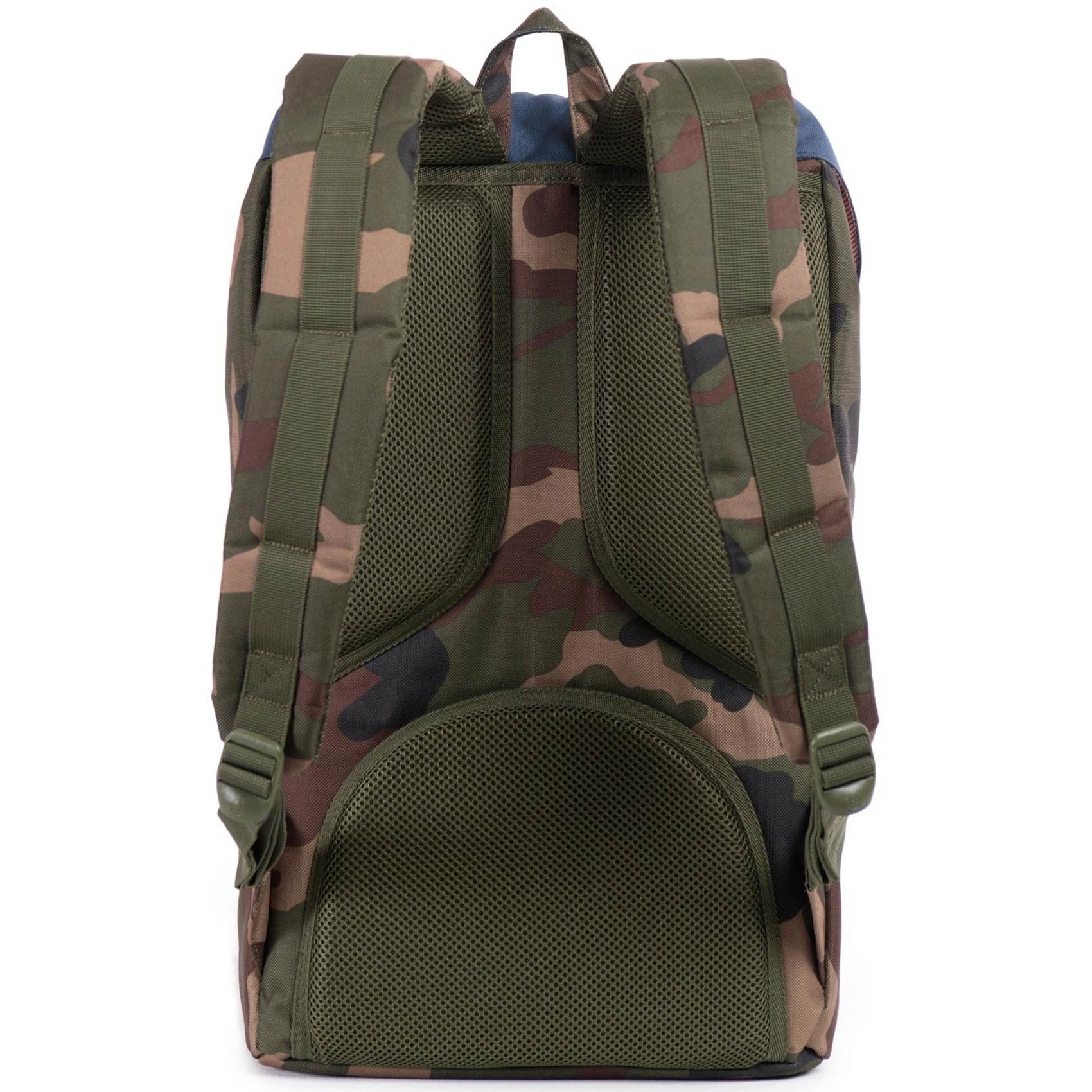 9edc4a422a3 Herschel Little America Backpack - Woodland Camo Navy Red