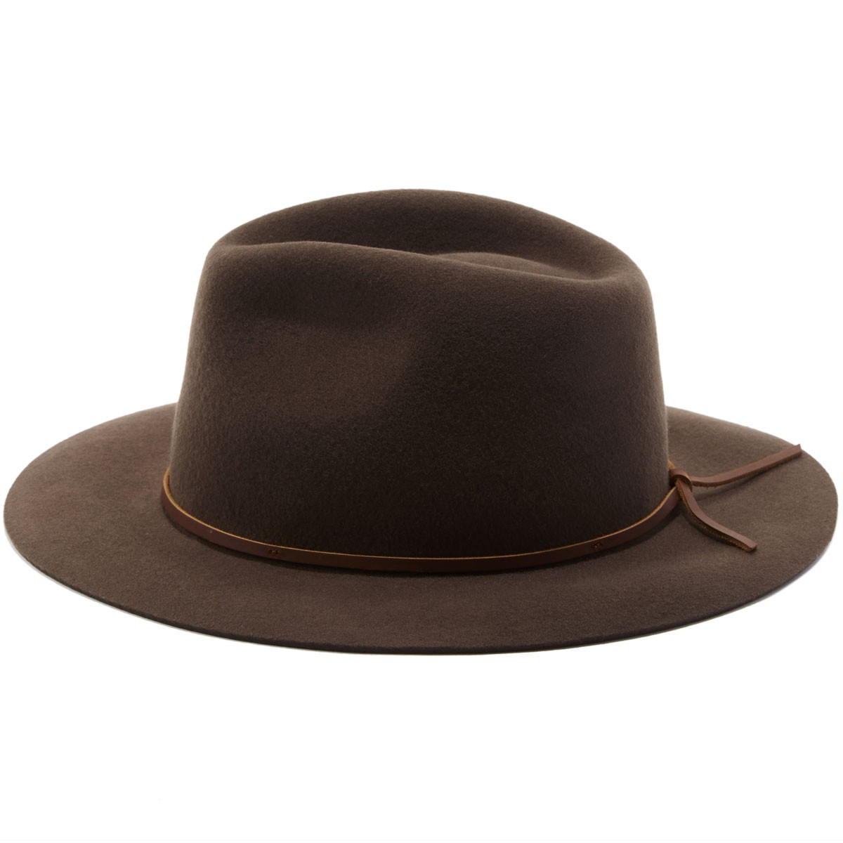 23c1a07735e Brixton Wesley Fedora Hat - Brown Black