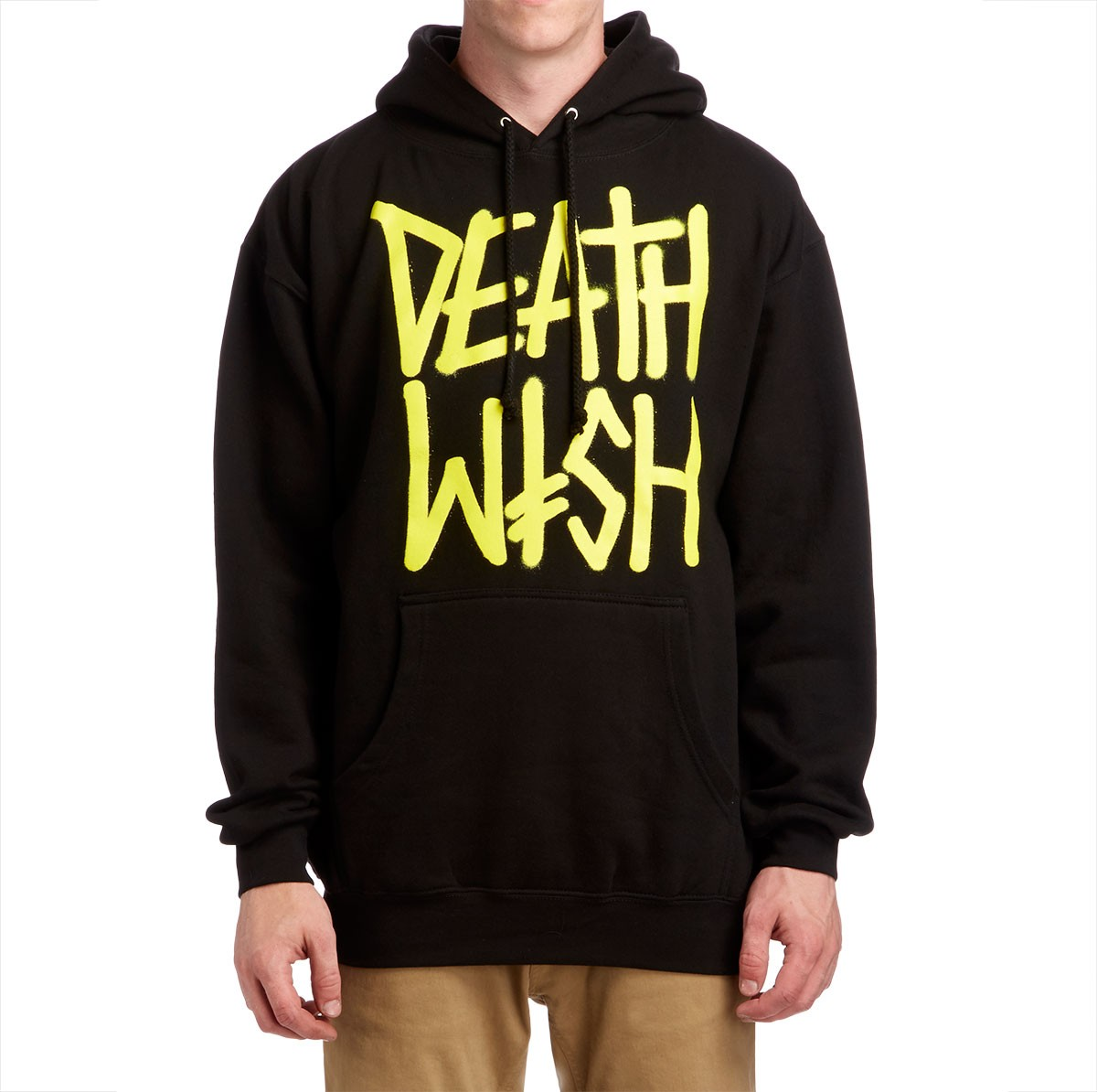 Deathwish Deathstack Pullover Hoodie - Black/Yellow