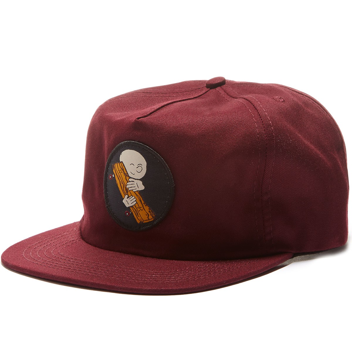 Old Friends Hugger Patch Snapback Hat - Maroon
