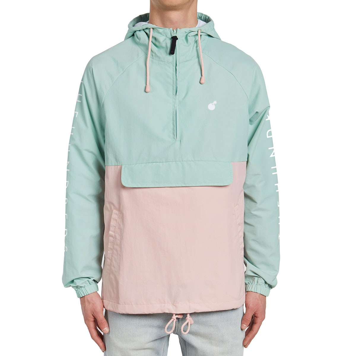 The hundreds dell anorak jacket pale turquoise for Couleur bleu turquoise clair