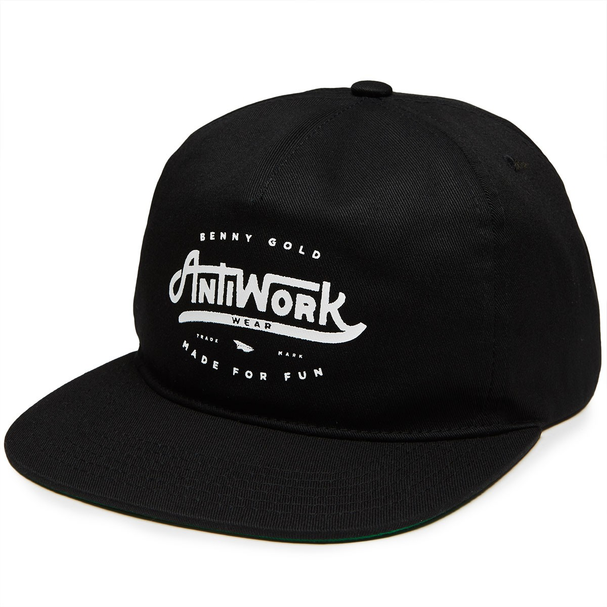 37e6bcd952f03 Benny Gold Anti Work Unstructured Snapback Hat - Black