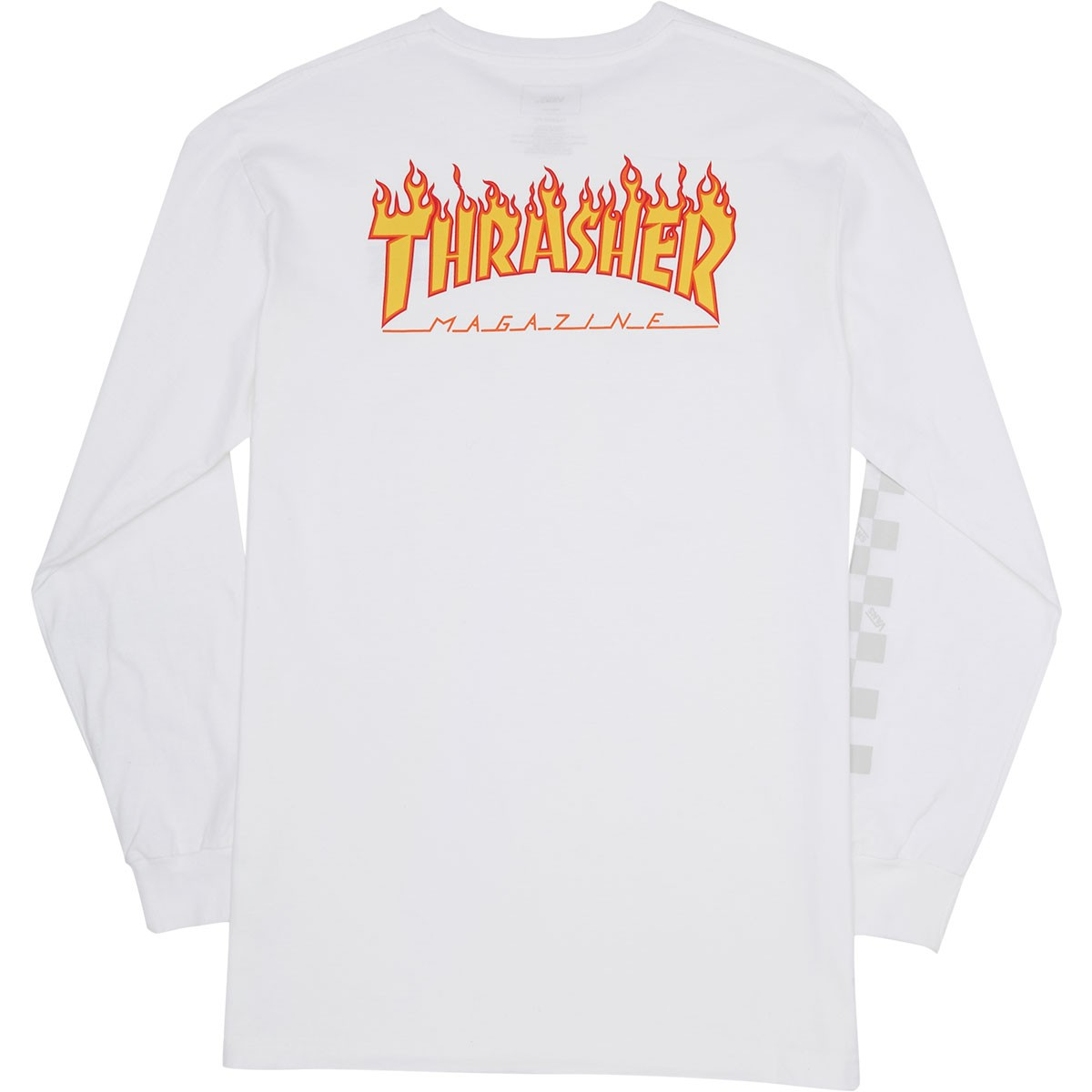 Vans X Thrasher Checker Longsleeve T-Shirt - White 08eb83db5d47
