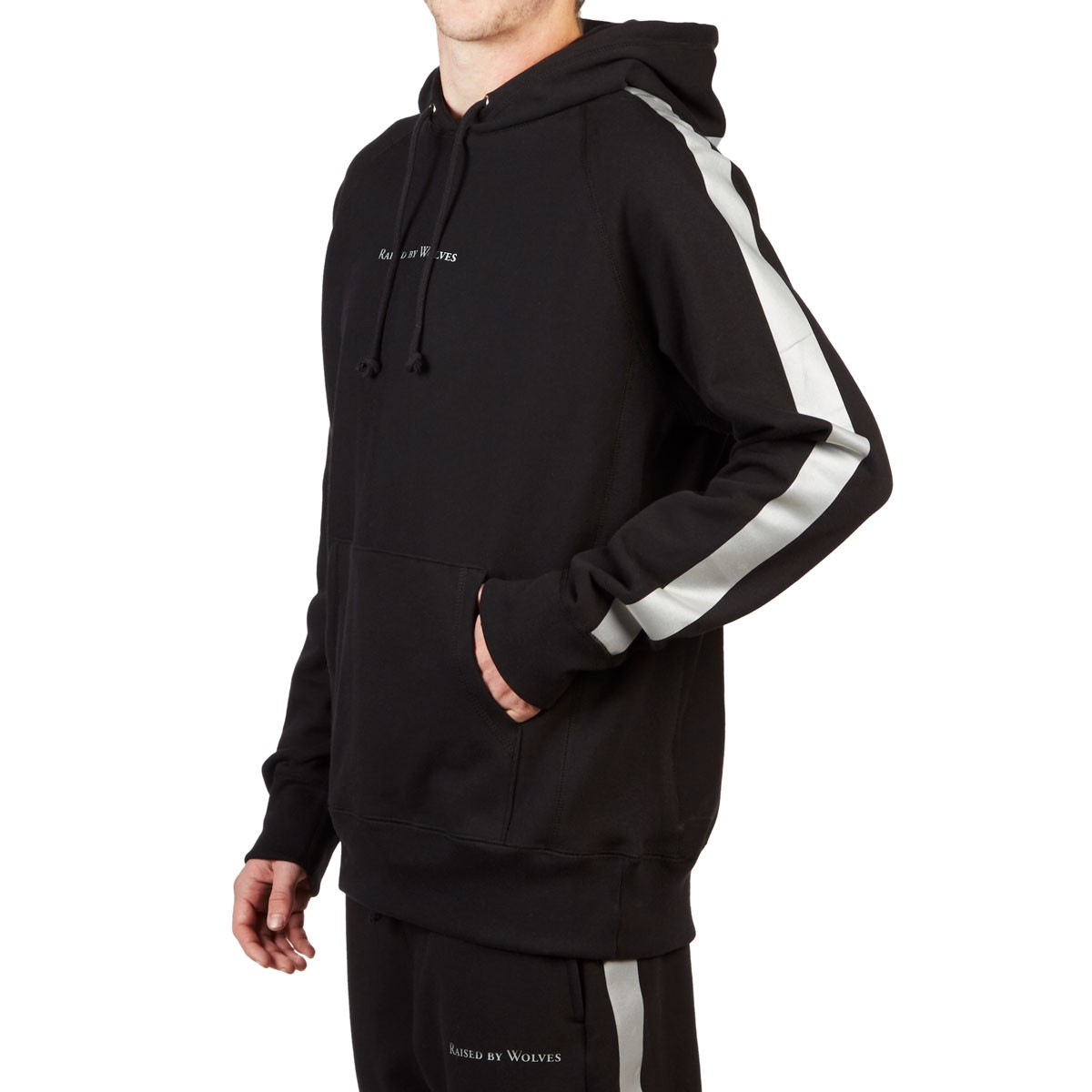 3debbf164afe Raised By Wolves 3M Stripe Hoodie - Black French Terry