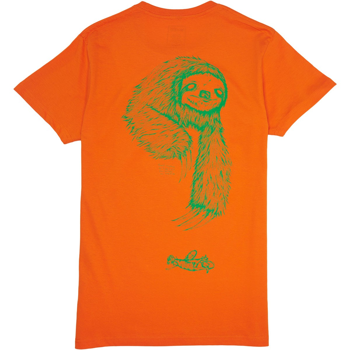 Welcome Sloth T-Shirt - Orange/Neon Green