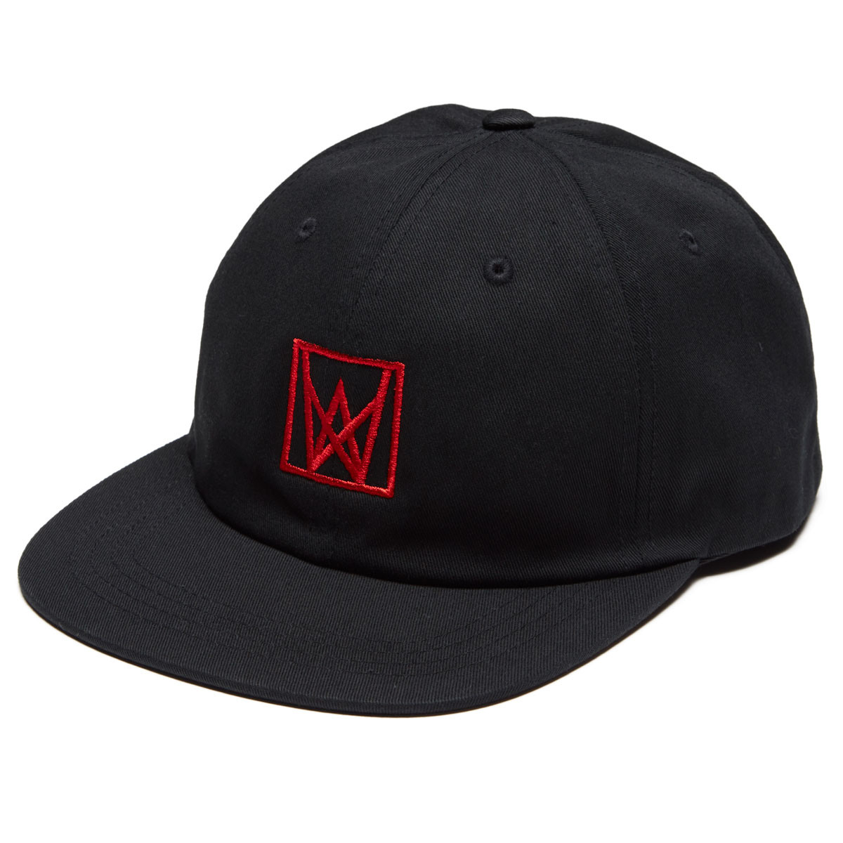 Welcome Icon Unstructured Snapback Hat - Black Red 2b37d1b6dfb