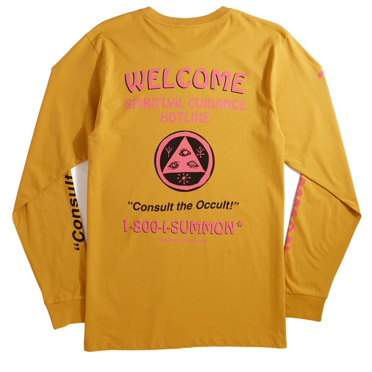 ad8a43828d4 Welcome Hotline Long Sleeve T-Shirt - Mustard