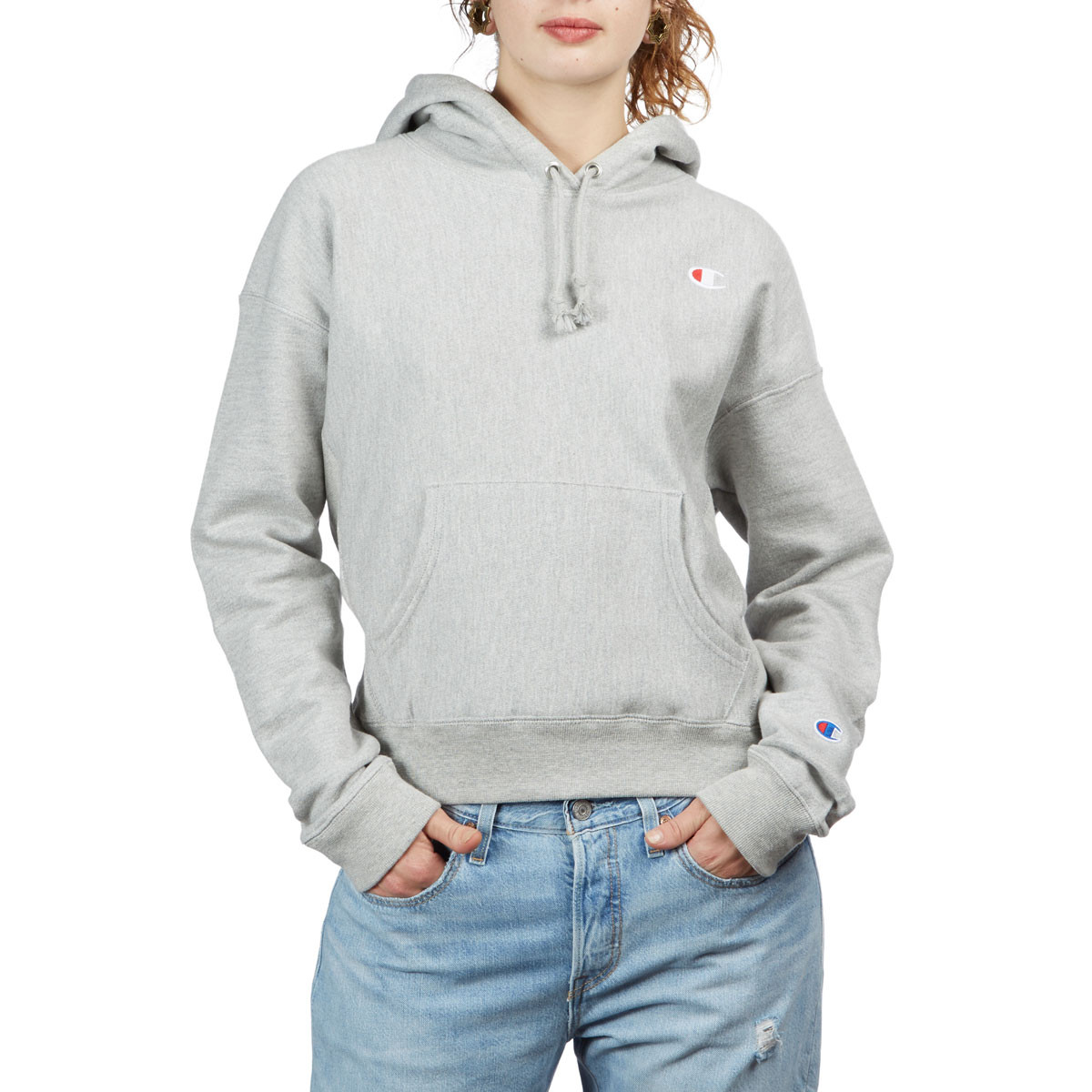 8c90a682d5e6 Champion Womens Reverse Weave Hoodie - Oxford Grey