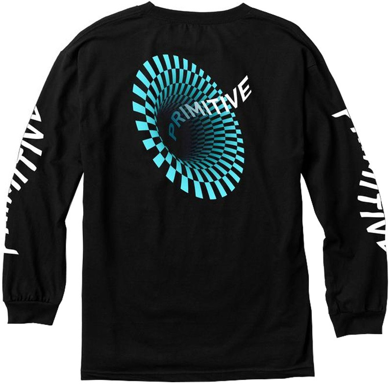 662773cc Primitive Black Pack 17 Black Hole Long Sleeve T-Shirt - Black