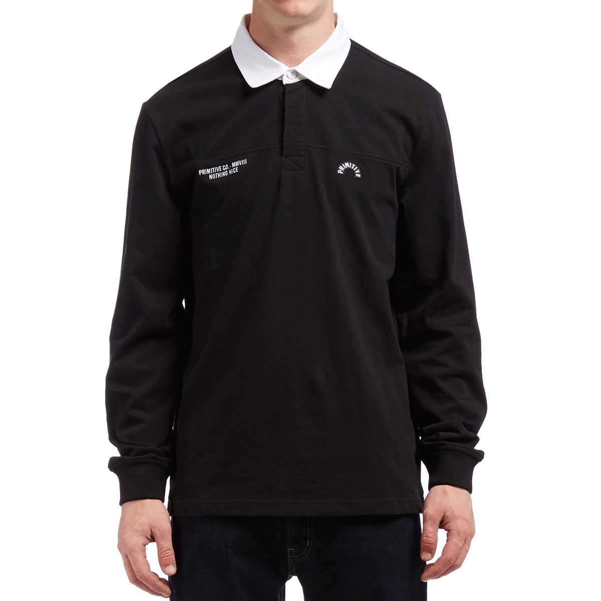 Primitive Nothing Nice Rugby Jersey - Black