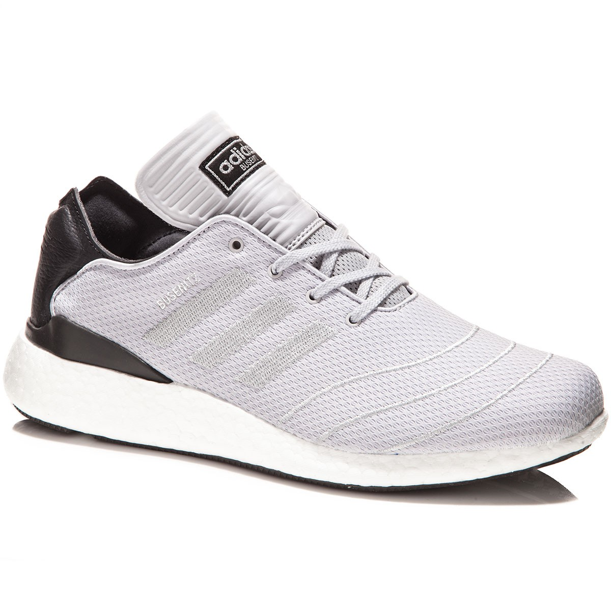Adidas Busenitz Pure Boost Shoes - Grey/Grey/Silver Metallic - 8.0