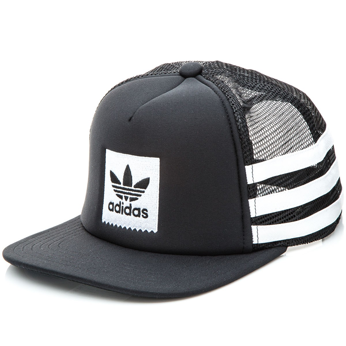 Adidas Foam Trucker Snapback Hat - Black/White