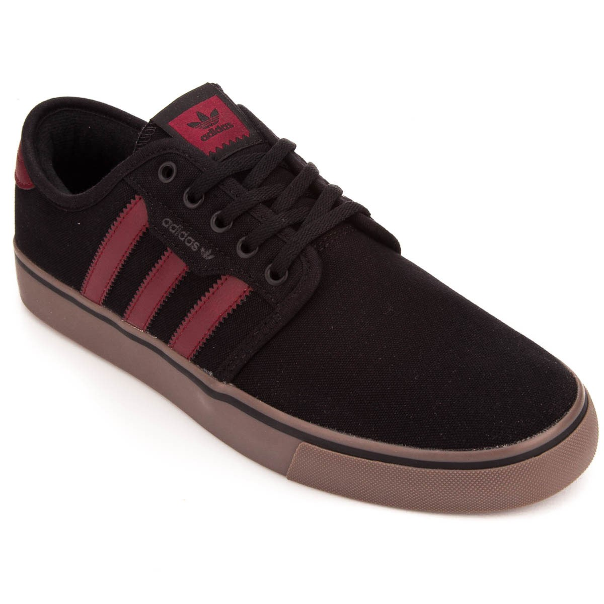 Adidas Seeley Shoes - Black/Burgundy/Gum - 6.0