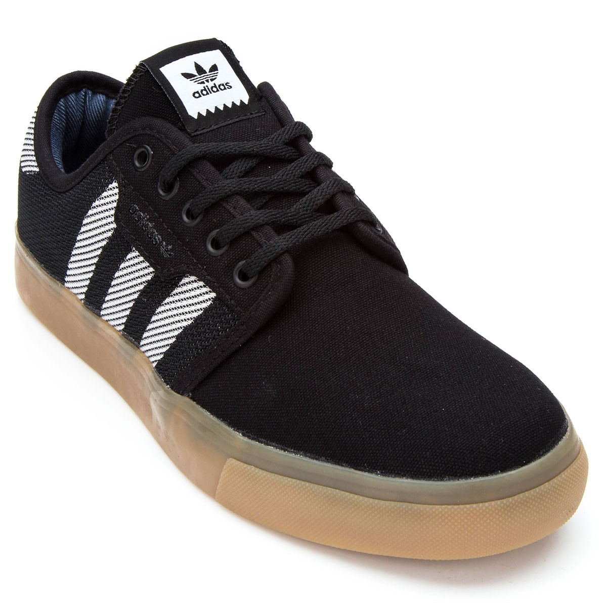 Adidas Black Shoes With White Soles