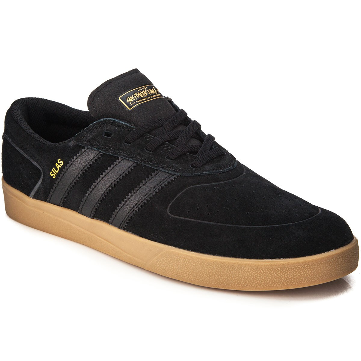 030e34e6d5 Adidas Silas Vulc Adv Shoes - Black Black Gold Metallic - 7.0