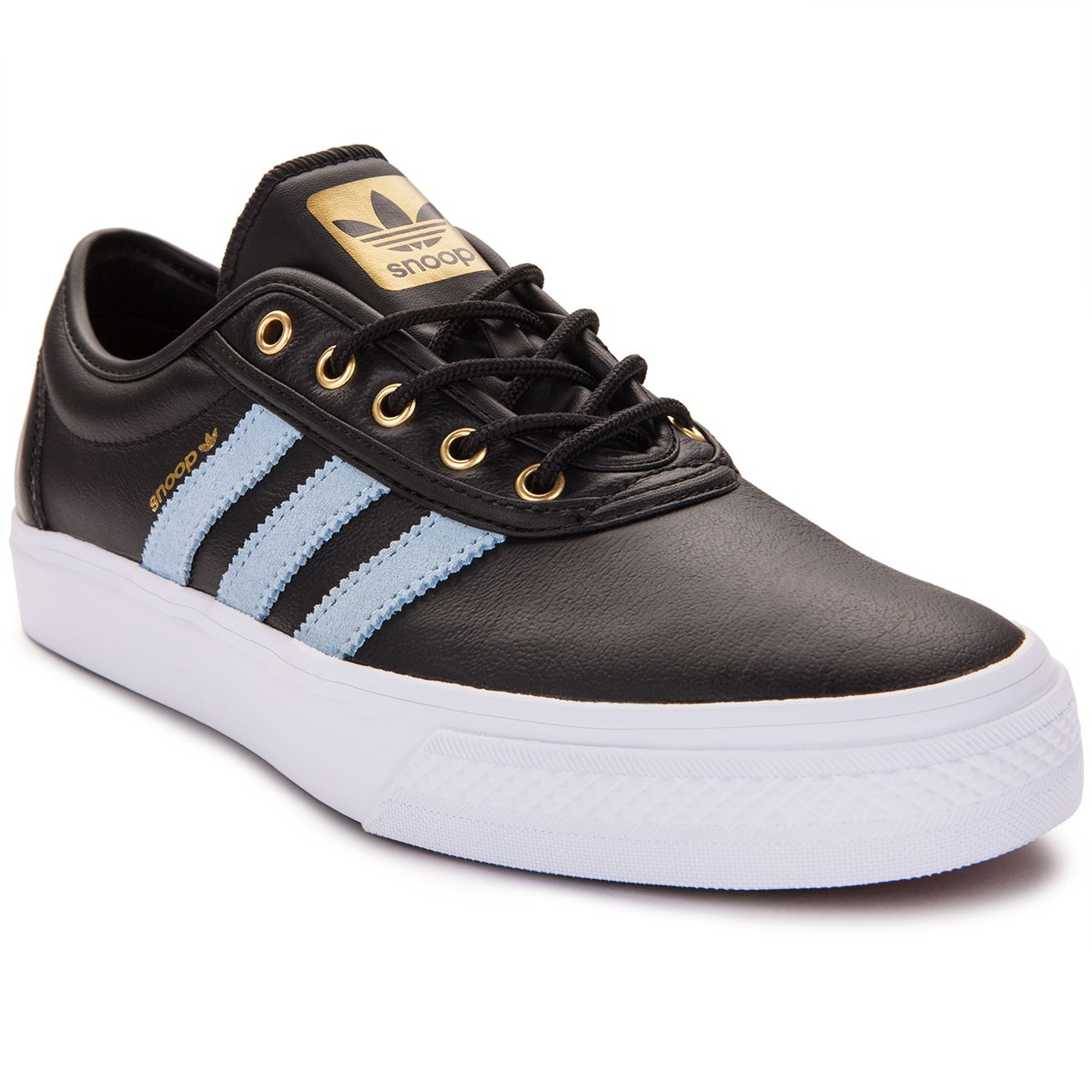 Adidas Snoop adi Ease Shoes - Black/Sky Blue/Gold - 4.0
