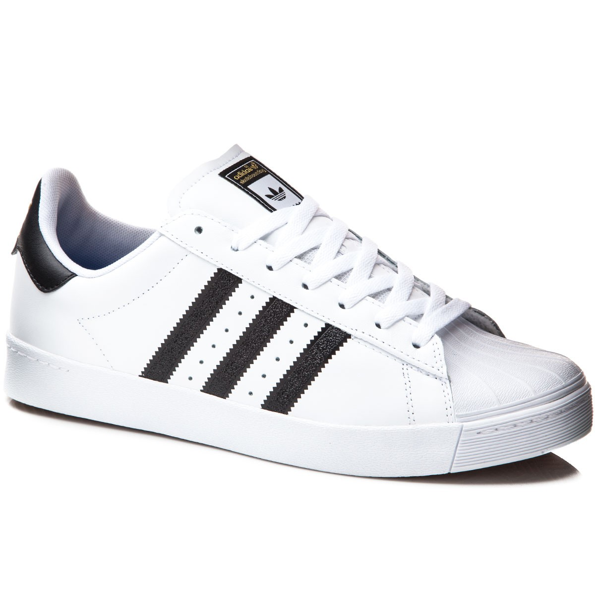 Adidas Superstar Vulc Adv Shoes - White/Black/White - 7.0