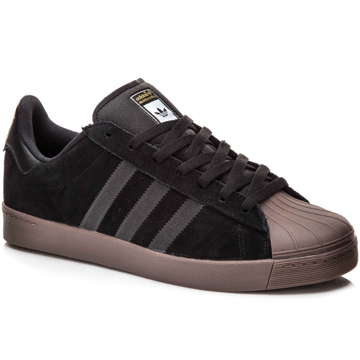 Adidas Superstar Vulc Adv Shoes - Black/Metallic Gold/Red