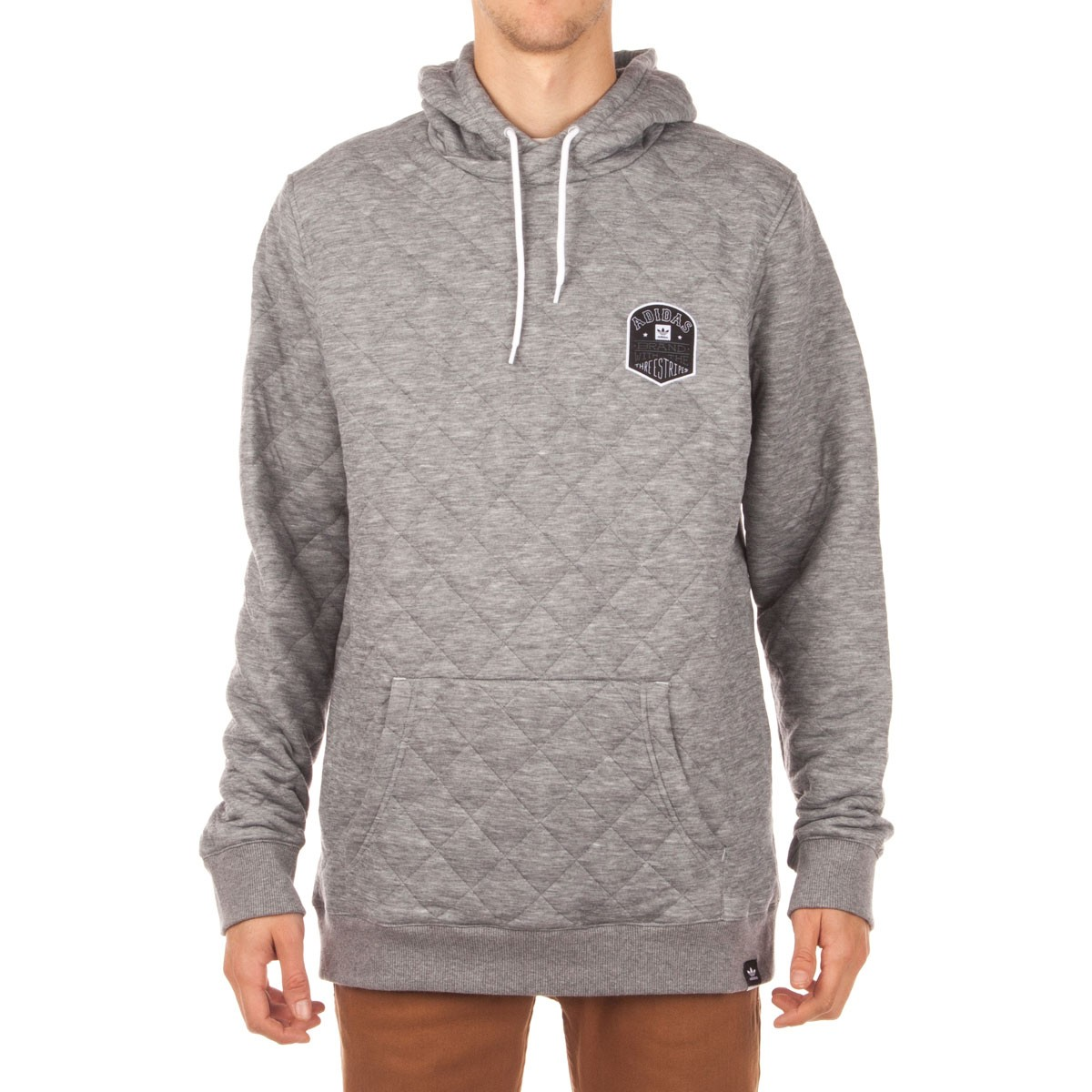 882edff2fa Adidas Triple Lock Up Quilted Hoodie - Heather