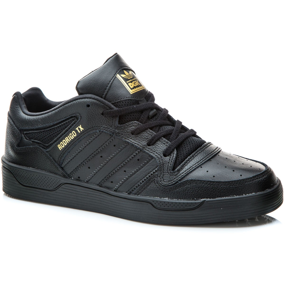 Adidas X DGK Locator Shoes - Black/Black/Gold Metallic