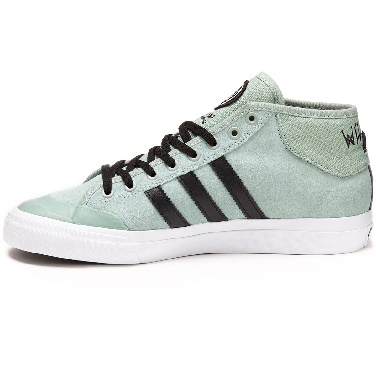 reputable site 53e71 2d5bb Adidas X Welcome Matchcourt Mid Shoes - Slate Black White - 6.0