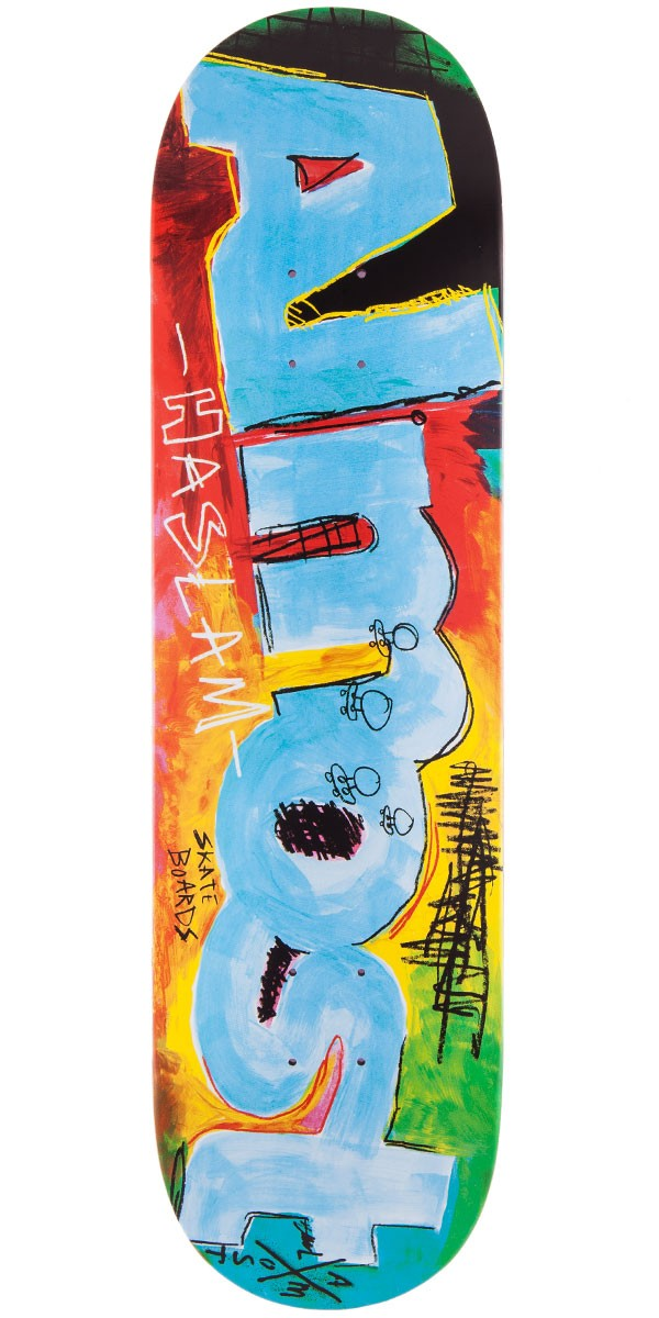 Almost Chris Haslam Paint Scraps Skateboard Deck - 8.375""