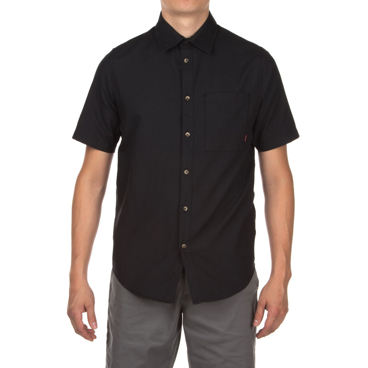 Altamont Alass Short Sleeve Woven Shirt - Black