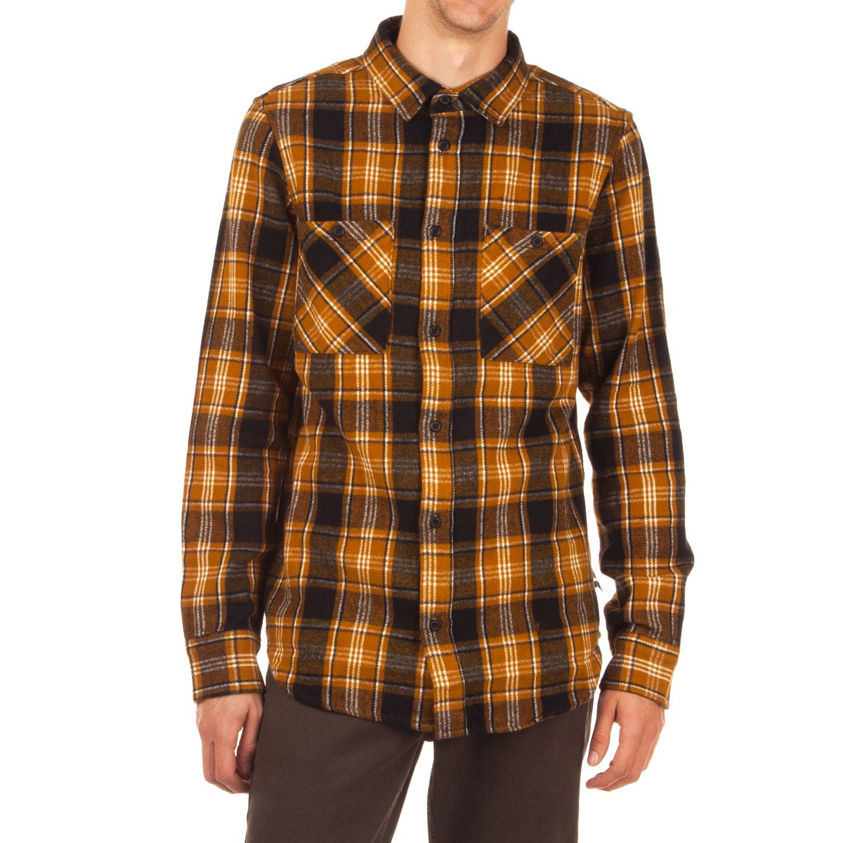 Altamont Binary Long Sleeve Flannel Shirt - Black
