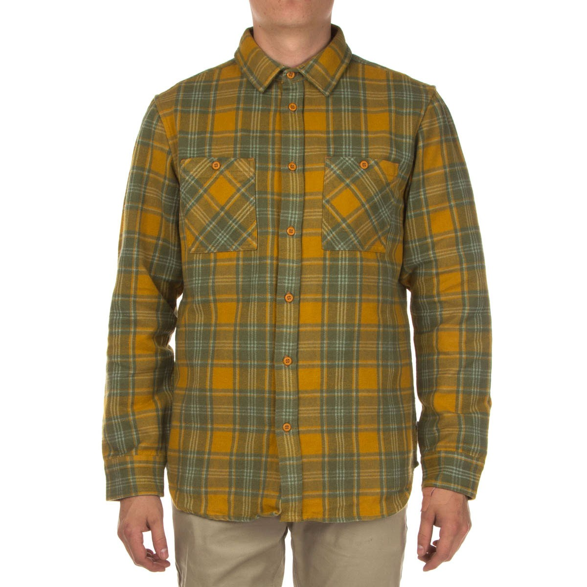 Altamont Binary Long Sleeve Flannel Shirt - Copper