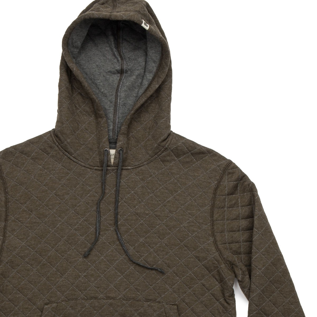 9f2111a1f Ambig Dwight Hooded Quilted Sweatshirt - Heather Olive